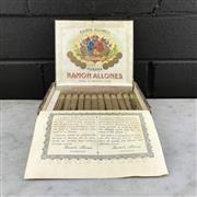 Sale 8950W - Lot 83 - Ramon Allones Bits of Havana Cuban Cigars - timber box of 25 with 12 remaining, pre 1972