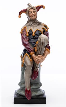 Sale 9245R - Lot 86 - An English Royal Doulton figure, The Jester, HN 2016 Ht: 25cm
