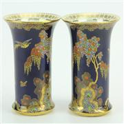 Sale 8413 - Lot 22 - Carlton Ware Paradise Bird & Tree Pair of Vases