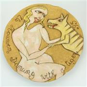 Sale 8413 - Lot 55 - Els Houwen Dancing with a Tiger Platter