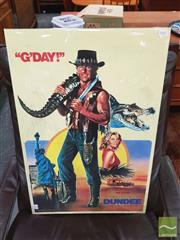 Sale 8421 - Lot 1061 - Vintage and Original Crocodile Dundee Movie Poster