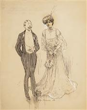 Sale 8597 - Lot 580 - Benjamin Edwin Minns (1864 - 1937) - Bride, 1906 24 x 19cm