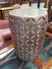 Sale 8593 - Lot 1094 - Drum Stool Lamp
