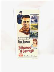 Sale 8750 - Lot 2077 - The Password is Courage Vintage Movie Poster ( 35cm x 75cm)