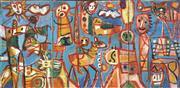 Sale 8722 - Lot 528 - Judi Singleton (1963 - ) - Travelling East (triptych) 79 x 161cm