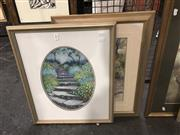 Sale 8824 - Lot 2060 - 2 Artworks: L Melbrum Watercolour and Eryl Jenkins Pastel SLL