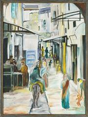 Sale 8838A - Lot 5167 - Artist Unknown - Middle Eastern Alley Scene 120 x 89.5cm
