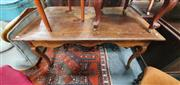 Sale 8848 - Lot 1040 - Provincial Style French Oak Dining Table, with shaped apron & cabriole legs