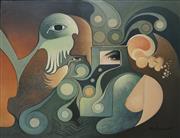 Sale 8901A - Lot 5085 - Vince Stevenson (1945 - ) - Weekend in Cairo, 1991 59.5 x 75 cm