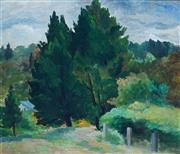Sale 8947 - Lot 535 - Alison Rehfisch (1900 - 1975) - Berrima Landscape, c1948 30 x 35.5 cm (frame: 48 x 52 x 3 cm)