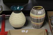 Sale 8310 - Lot 1083 - West German Pottery Vases x 2
