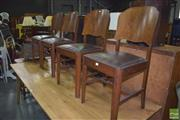 Sale 8390 - Lot 1193 - Set of 4 Art Deco Chairs