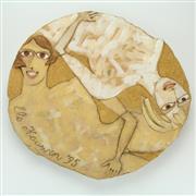 Sale 8417 - Lot 87 - Els Houwen Nude Figures Platter