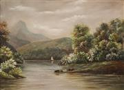Sale 8675 - Lot 554 - Edith Stanway Halcombe (1844 - 1903) - New Zealand Highland Scene 43.5 x 60cm