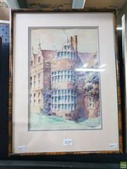 Sale 8650 - Lot 2097 - H Bartleet - Kirby Hall, 1931 47.5 x 35cm (frame size)
