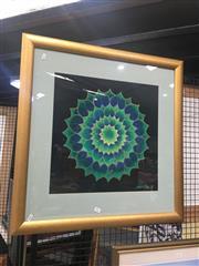 Sale 8707 - Lot 2036 - J Terpstra - Jade Mandala, mixed media on paper, 75 x 75cm
