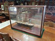 Sale 8831 - Lot 1082 - Model Ship in Timber & Glass Case