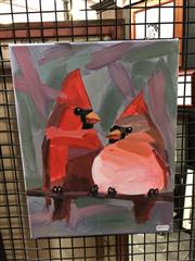 Sale 8861 - Lot 2029 - Churri Tweetle Dee and Tweetle Dum acrylic, 36 x 28cm. -