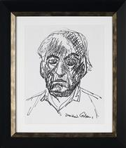 Sale 8961 - Lot 2020 - Desiderius Orban (1884 - 1986) - Self Portrait 30 x 24 cm (frame: 45 x 40 x 3 cm)