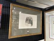 Sale 9004 - Lot 2063 - Peter Ransom (1957 - ) - Figure in a Passage 1978 19.5 x 32 cm (frame: 52 x 66 x 3 cm)