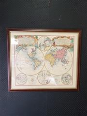 Sale 9024 - Lot 2079 - Framed Map (81 x 70cm)
