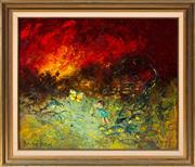 Sale 8369A - Lot 76 - David Boyd - Girl & Butterfly 59 x 71cm