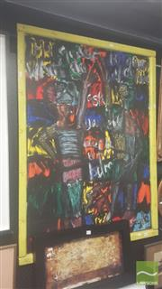 Sale 8437 - Lot 2004 - Peter Cooley (1956 - ) - Conversation 123 x 92cm (including frame)