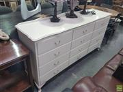 Sale 8648C - Lot 1043 - White Painted Chest of Nine Drawers
