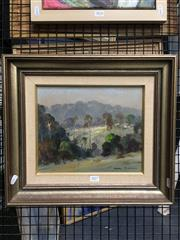 Sale 8726 - Lot 2017 - Terry Gleeson (1934 - 1976) - Ourimbah Landscape,oil on board, 25.5 x 30cm, signed lower right -