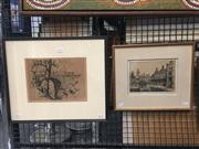 Sale 8751 - Lot 2038 - Douglas Pratt (2 works) - Lennox Bridge, Lapstone Hill; P.L.C Croydonetchings, ed.18/100;18/100, each signed lower -