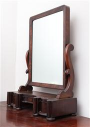 Sale 8804A - Lot 146 - Victorian mahogany toilet mirror with three drawers, H 80 x W 61 x D 20cm