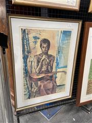 Sale 9028 - Lot 2003 - Donald Friend signed lithographed ed. 25/50, frame: 71 x 53 cm -