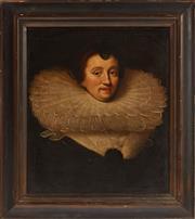 Sale 9087H - Lot 59 - An 18th century portrait of Charlotte de La Tremoille Countess of Derby.  Provenance: The Bushell family, Berrima.67cm width, 76cm h...