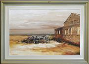 Sale 8316 - Lot 552 - Colin Parker (1941 - ) - At the Old Wahgunyah Hotel 59 x 89cm