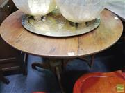 Sale 8447 - Lot 1060 - Oak Single Pedestal Dining Table