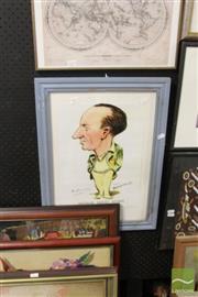 Sale 8468 - Lot 2071 - Bradman Caricature