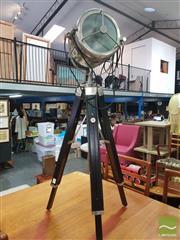 Sale 8495F - Lot 1088 - Lamp on Tripod Base