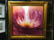Sale 8750 - Lot 2039 - Artist Unknown - Flower Study acrylic on canvas, 88 x 88cm, signed Borislava lower right
