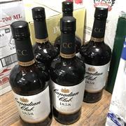 Sale 8801W - Lot 45 - 5x Canadian Club Canadian Whisky, 1000ml