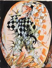 Sale 8930A - Lot 5005 - Charles Blackman (1928 - 2018) - Harlequins 62 x 50.5 cm (sheet size)