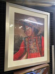 Sale 8995 - Lot 2017 - Artist Unknown Juanita oil, 65 x 55cm (frame) signed lower left
