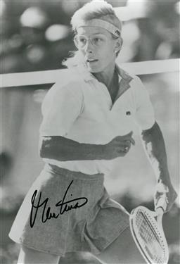 Sale 9152 - Lot 2057C - A signed photo of Martina Navratilova
