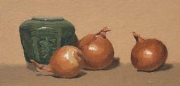 Sale 9150J - Lot 71 - AUSTRALIAN SCHOOL Still life study oil on canvas 14.5x29.5cm signed lower right
