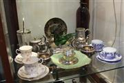 Sale 8304 - Lot 88 - Coalport Blue & White Trios & Ceramics & Plated Wares incl Royal Winton