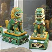 Sale 8362 - Lot 26 - Pair of Tang Style Foo Dogs