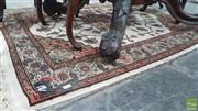 Sale 8375 - Lot 1063 - Persian Wool Carpet (121 x 142cm)