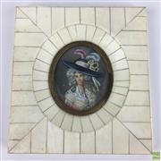 Sale 8589R - Lot 85 - Ivory Framed Miniature (H: 12.5cm)