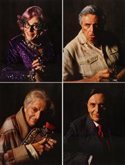 Sale 8642A - Lot 5060 - Lewis Morley (1925 - 2013) (4 works) - Dame Edna/Les/Sandy/Barry 40 x 30cm, each