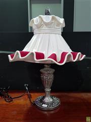 Sale 8629 - Lot 1005 - Fabric Shade Table Lamp