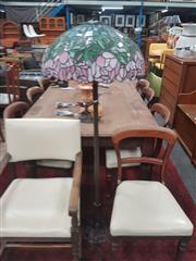 Sale 8676 - Lot 1327 - Leadlight Shade Standing Lamp
